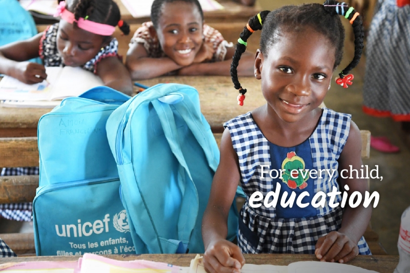 UNICEF Survival Gift greeting card for education
