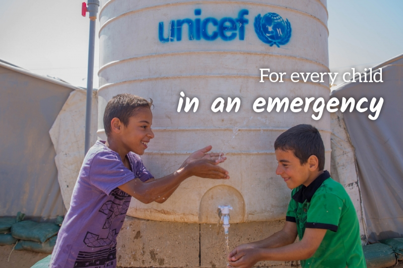 UNICEF Survival Gift greeting card for emergency