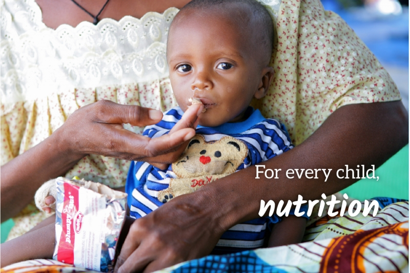 UNICEF Survival Gift greeting card for nutrition